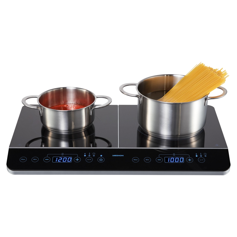 MEDION® Inductie kookplaat MD 15324 | Vermogen: 3500W | 10 Vermogensniveaus | 10 Temperatuur instellingen | Automatische uitschakeling