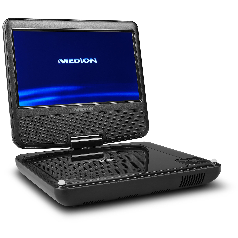 MEDION® LIFE® E72054 Portabler DVD-Player mit 17,78 cm (7'') digitalem Display, bis zu 3 Stunden Laufzeit, Wiedergabe von MP3-Dateien vom USB Stick oder MP3-Player