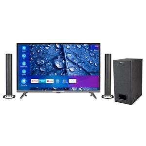MEDION® Offre combinée ! LIFE® P13225 Full HD Smart-TV 31,5 pouces & P61220 Barre de son 2.1 avec Bluetooth et caisson de basses