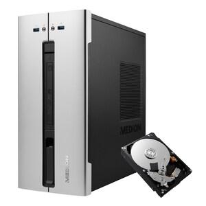 MEDION® AKOYA® E66015, Intel® Core™ i5-10400, Windows10Home, 512 GB SSD, 8 GB RAM, Multimedia PC + 1 TB interne HDD &  1 Jahres-Lizenz McAfee® LiveSafe™ Virenschutz - ARTIKELSET