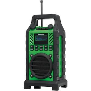 MEDION® LIFE® E66247 Baustellenradio, Dot-Matrix LC-Display, DAB+/UKW Radio, Kartenleser & USB-Anschluss, spritzwassergeschützt, robustes & stoßfestes Gehäuse, 50 W max. Musikausgangsleistung