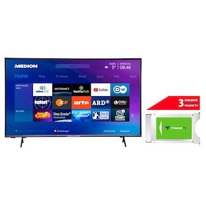 MEDION® LIFE® P14327 108 cm (43'') Full HD Smart-TV + DVB-T 2 HD Modul (3 Monate freenet TV gratis) - ARTIKELSET