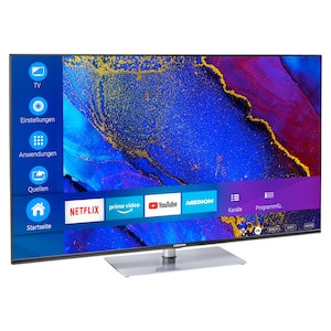 MEDION® LIFE® X15562 Smart-TV, 138,8 cm (55'') Ultra HD Display, HDR, Dolby Vision™, Micro Dimming, MEMC, PVR ready, Netflix, Amazon Prime Video, Bluetooth®, DTS HD, HD Triple Tuner, CI+