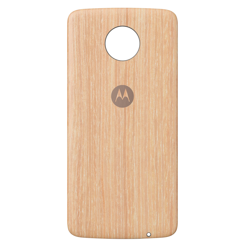 MOTOROLA moto Style Washed Oak Wood Back-Cover, Premium-Materialien, individuell anpasspar, geeignet für alle Smartphones der moto z Familie