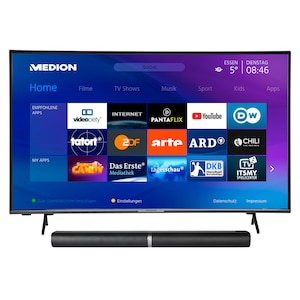 MEDION® BundelDEAL ! LIFE® X15052 50 inch Ultra HD-TV & P61202 Bluetooth Soundbar