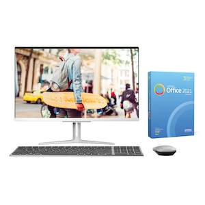 MEDION® AKOYA® E27401, Intel® Core™ i5-1035G1, Windows 10 Home, 68,6 cm (27) FHD Display, 512 GB SSD, 16 GB RAM, Aluminium-Design, All-in-One PC, inkl. SoftMaker Office Standard 2021