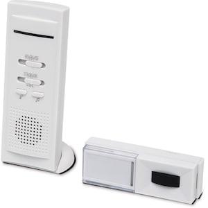 MEDION® Funktürklingel MD 16179, 16 verschiedene Töne, LED-Kontrollanzeige, spritzwassergeschützt, Selbstlernfunktion, bis max. 100 m Reichweite