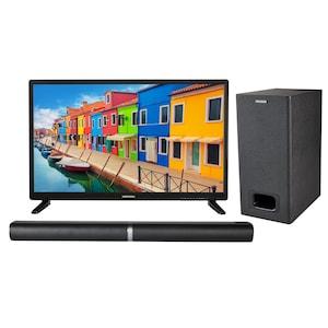 MEDION® BundelDEAL ! LIFE E12837 27,5 inch LCD-TV met DVD player & P61220 Bluetooth 2.1 soundbar met subwoofer