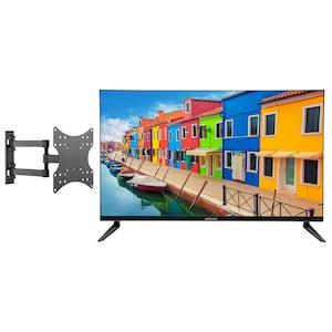 MEDION® Offre combinée ! LIFE E13212 LCD-TV 31,5 Pouces avec Lecteur DVD & GOOBAY Basic FULLMOTION (D20) Fixation mural