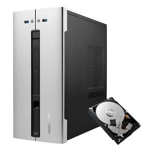 MEDION® AKOYA® E42018, Intel® Core™ i3-10100, Windows10Home, 256 GB SSD, 8 GB RAM, Multimedia PC inkl. 1 TB interne HDD - ARTIKELSET