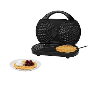 MEDION® Dubbel wafelijzer MD 16383 | Hartvormige wafels | Verwarmingsplaat met antiaanbaklaag | 1200 watt | Instelbare temperatuurregelaar