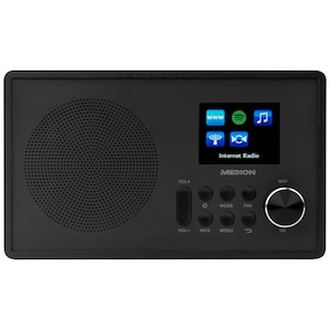 MEDION® LIFE® E85080 Internetradio, farbiges 6,1 cm (2,4'') TFT-Display, Empfang von über 15.000 Internetradiosendern, WLAN, DLNA, Spotify®-Connect, 1 x 10 W RMS