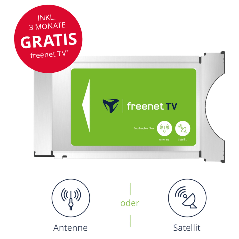 TELESTAR CI+ TV Modul von freenet TV für Antenne & Satellit inkl. 3 Monate gratis*, Empfang von privaten HD Programmen