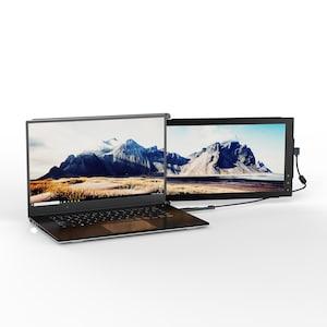TELESTAR Mobile Pixels TRIO 31,8 cm (12,5'') Full HD tragbarer Dual-Screen-Laptop-Monitor, IPS-Display