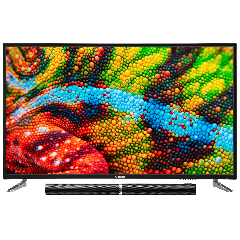 MEDION® LIFE® P15501 TV, 138,8 cm (55) Ultra HD Fernseher, inkl. LIFE® P61202 TV-Soundbar - ARTIKELSET