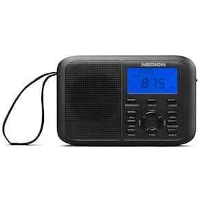 MEDION® LIFE® E66343 PLL-wereldontvanger | PLL-tuner voor VHF, MW, LW, KW | LC-display met blauwe achtergrondverlichting | 400 zendergeheugen | alarmfunctie