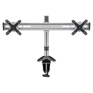 GOOBAY ScreenFlex TWIN-monitorbeugel | Voor alle monitoren van 33-58 cm (13-23'') | Montage voor twee schermen | In hoogte verstelbaar | draaibaar en kantelbaar | Tot 8kg