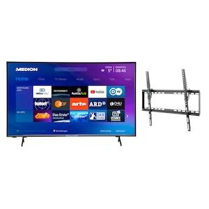 MEDION® Offre combinée ! LIFE® P14327 Full HD Smart-TV 43 pouces & GOOBAY Basic TILT (L) Support mural