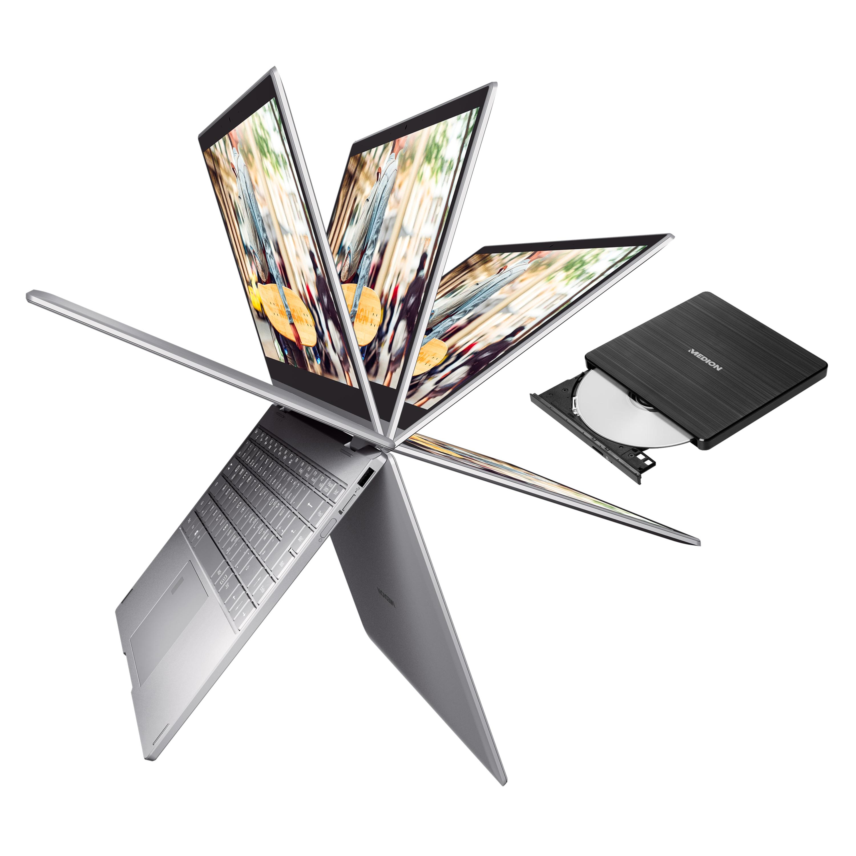 MEDION® AKOYA® E4271, 35,5 cm (14'') Convertible + externer DVD Brenner - ARTIKELSET