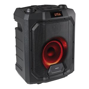 MEDION® LIFE® P61988 Trolley Partylautsprecher mit Bluetooth®, LED-Display, Karaoke Funktion, Bass Boost, farbige LED-Lichter, ausziehbarer Teleskopgriff & Rollen, integr. Akku  (B-Ware)