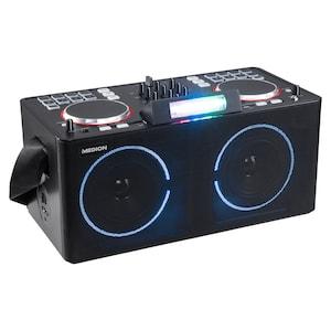 MEDION® LIFE X61420 Party Speaker | met DJ-controller | 2 LC-displays | 8 Multifunctionele performance pads | LED lichteffecten | 2 x 20 W RMS