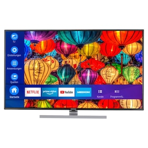 MEDION® LIFE® S15502 Smart-TV, 138,8 cm (55'') Ultra HD Display, HDR, Dolby Vision™, Micro Dimming, MEMC, PVR ready, Netflix, Amazon Prime Video, Bluetooth®, DTS HD, HD Triple Tuner, CI+