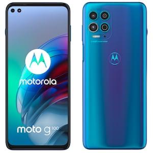 MOTOROLA moto g100 Smartphone, 17 cm (6,7) FHD+ Display, Android™ 11, 128 GB Speicher, 8 GB Arbeitsspeicher, Octa-Core-Prozessor, Bluetooth® 5.1, Farbe: Blau