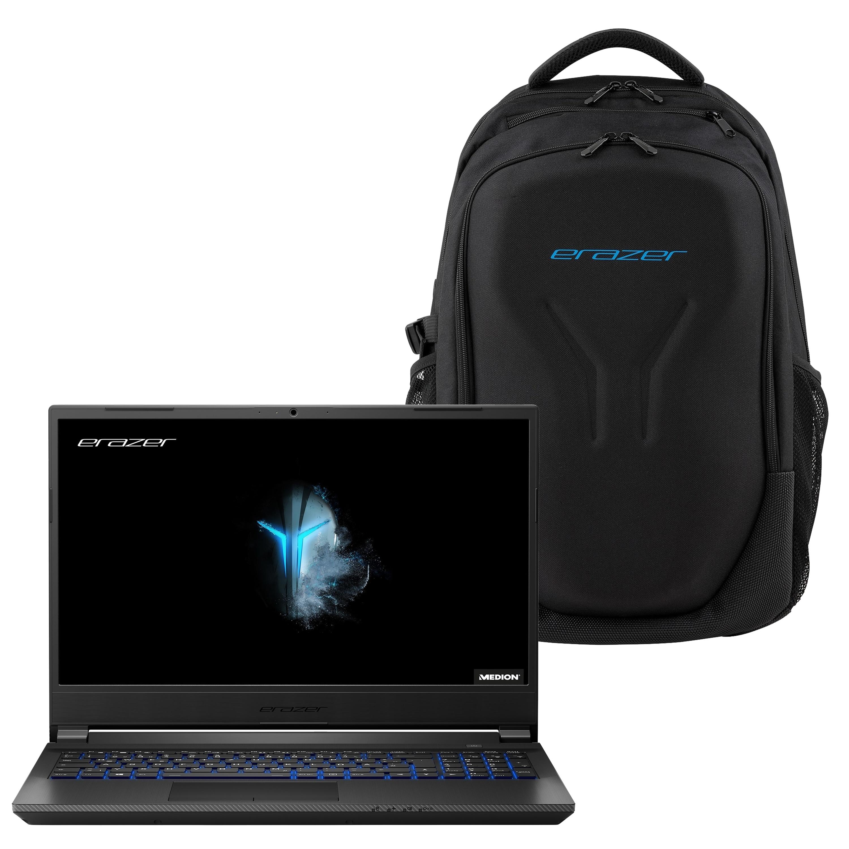 MEDION® ERAZER® P15603 39,6 cm (15,6'') Core Gaming Notebook + X89044 Gaming-Rucksack - ARTIKELSET