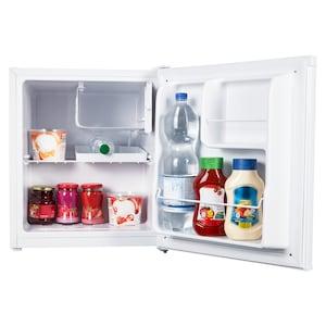 MEDION® Tischkühlschrank mit Eisfach MD 37574, 41 L Gesamt-Nutzinhalt, integriertes Eiswürfelfach mit 4 L, manuelle Temperatureinstellung, freistehend