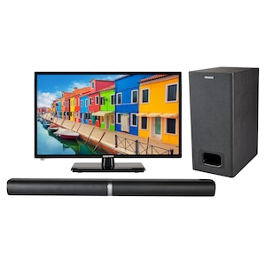 MEDION® BundelDEAL ! LIFE E12443 23 inch LCD-TV met DVD player & P61220 Bluetooth 2.1 soundbar met subwoofer