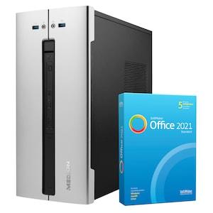 MEDION® AKOYA® P63014, Intel® Core™ i5-11400, Windows10Home, 1 TB PCIe SSD, 16 GB RAM, Multimedia PC, inkl. SoftMaker Office Standard 2021