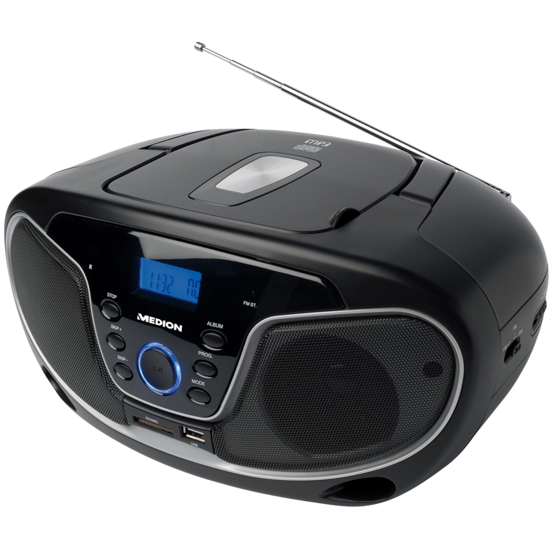 MEDION LIFE E66224, Stereo-Sound-System mit MP3 Wiedergabe, Kartenleser für SD-Karten, USB-Anschluss, AUX, UKW Stereo, CD-R/CD-RW kompatibel (B-Ware)