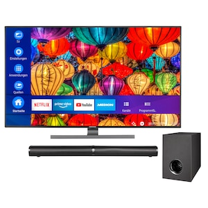 MEDION® BundelDEAL ! LIFE® S14949 49 inch Smart-TV & P61220 Bluetooth 2.1 soundbar met subwoofer