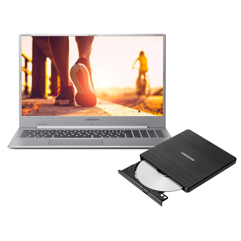 MEDION® AKOYA® P17605, 43,9 cm (17,3) Notebook + externer DVD-Brenner - ARTIKELSET