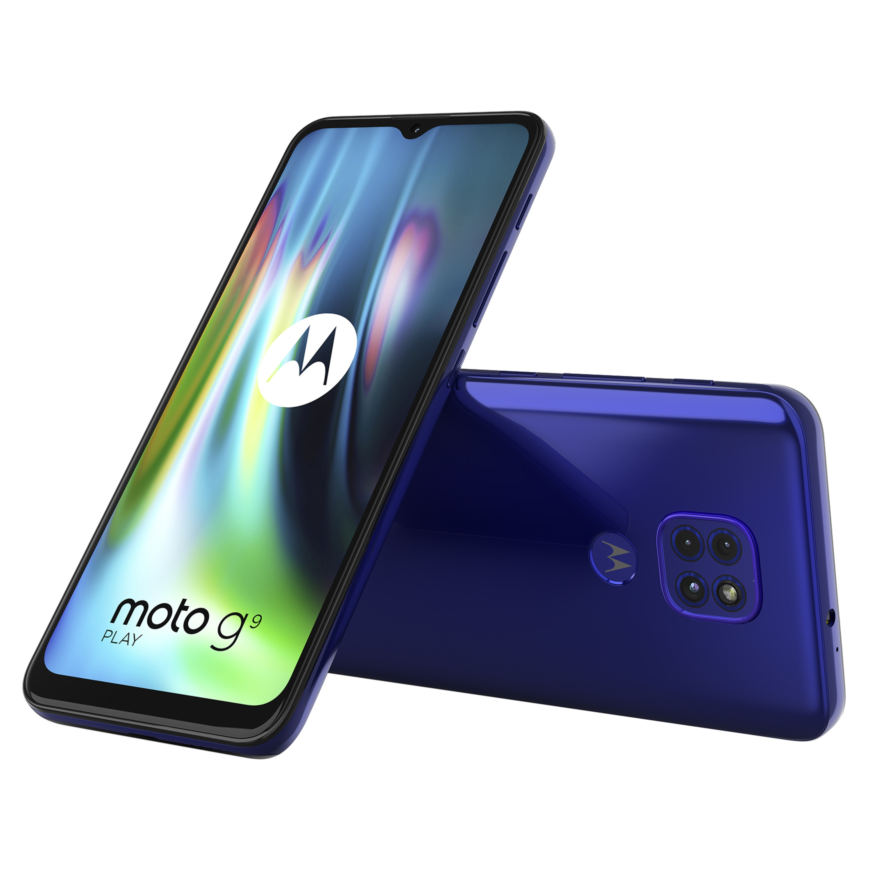 MOTOROLA moto g9 play Smartphone, 16,51 cm (6,5) HD+ Display, Android™ 10, 64 GB Speicher, 4 GB Arbeitsspeicher, Octa-Core-Prozessor, Bluetooth® 5.0