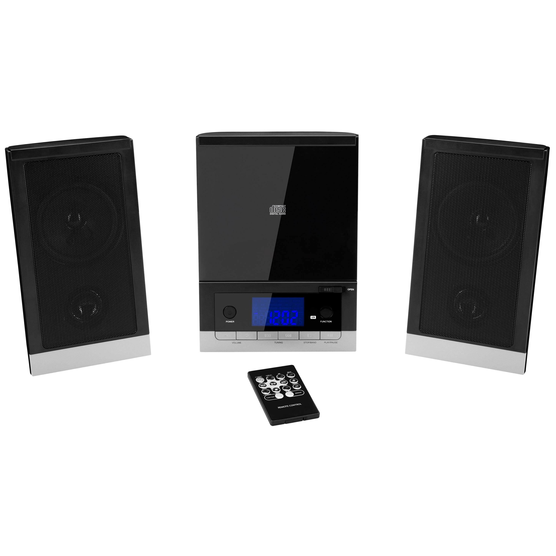 MEDION® LIFE® E64704 Mikro-Audio-System mit CD-Player UKW/MW Stereo Radio, Weckfunktion, 30 Senderspreicher, LC-Display mit blauer Hintergrundbeleuchtung, 2 x 25 Watt