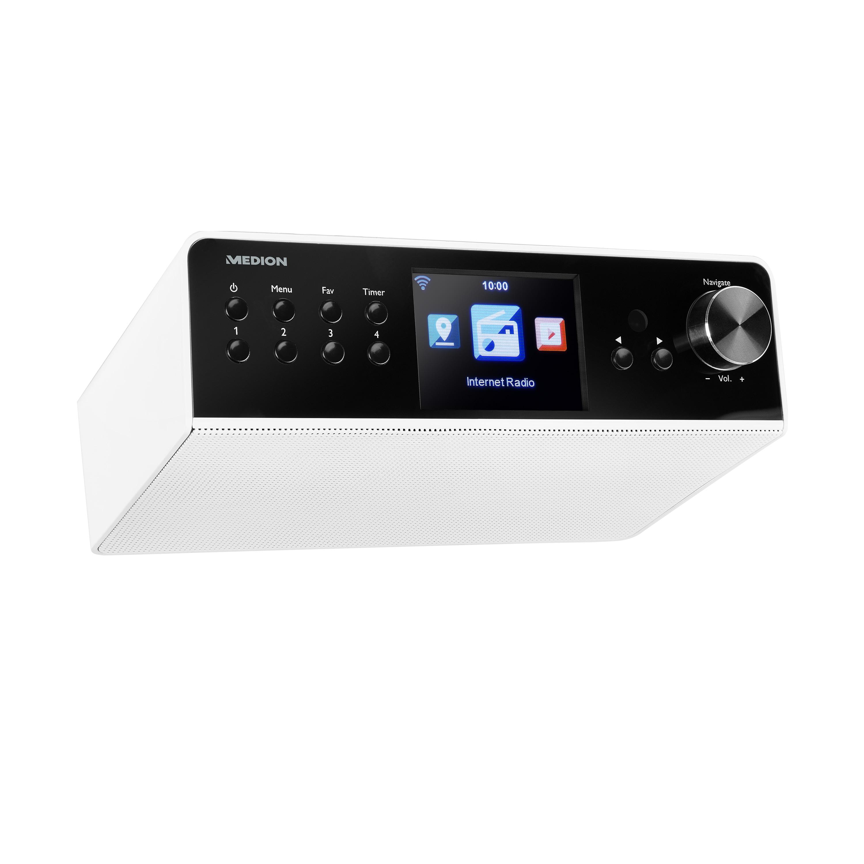 MEDION® LIFE® P85063 WLAN Unterbau-Internetradio, 8,1 cm (3,2'') TFT-Display, DAB+, UKW, DLNA-/UPnP-fähig, 8 Soundvoreinstellungen
