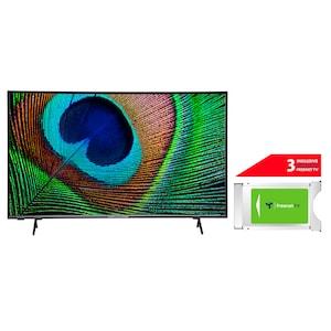 MEDION® LIFE® X14330 108 cm (43'') Ultra HD Android TV + DVB-T 2 HD Modul (3 Monate freenet TV gratis) - ARTIKELSET