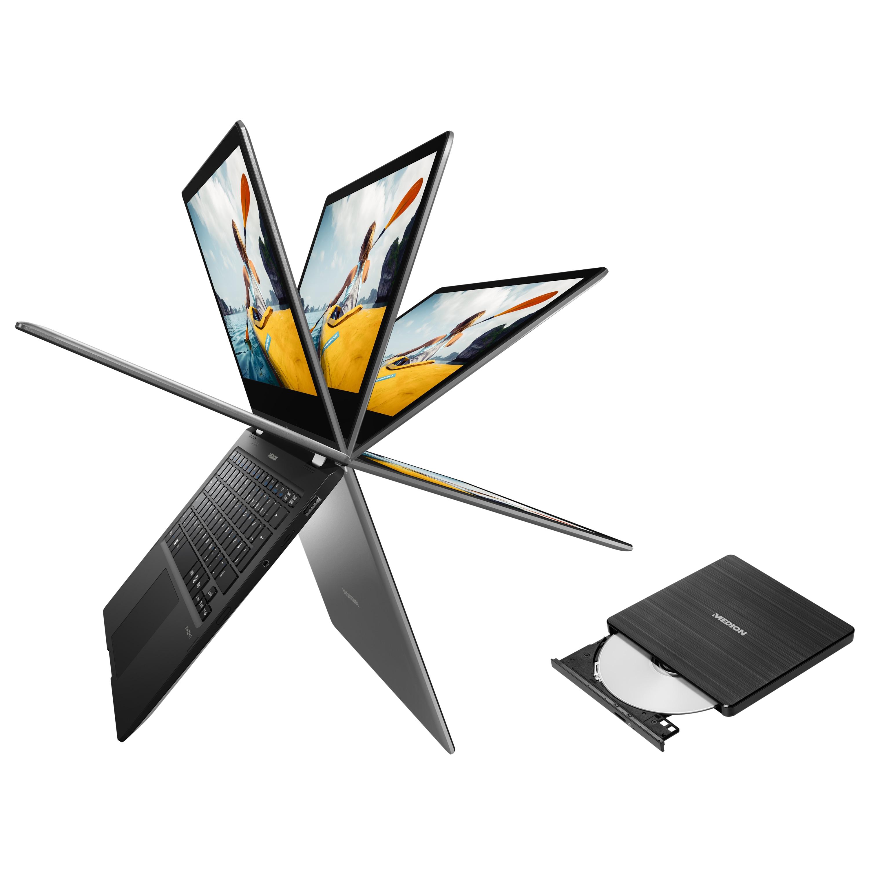MEDION® AKOYA® E2291 29,4 cm (11,6'')  Convertible Notebook + externer DVD Brenner - ARTIKELSET
