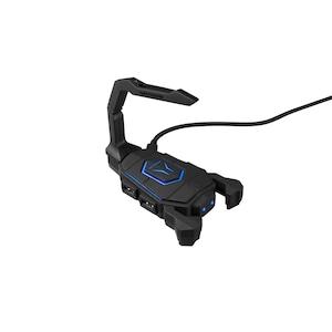 MEDION® ERAZER® X89050 Mouse Bungee, LED Beleuchtung, bringt Ordnung auf den Schreibtisch, 4 USB Anschlüsse