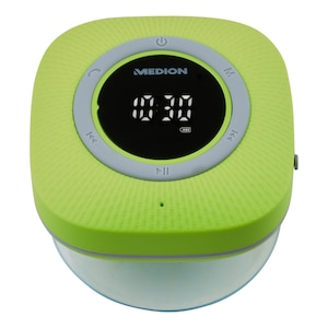 MEDION® LIFE P66096 Bluetooth® Douche Radio | LED-Display | FM radio | IPX6 waterdicht | 3 Watt RMS | Groen