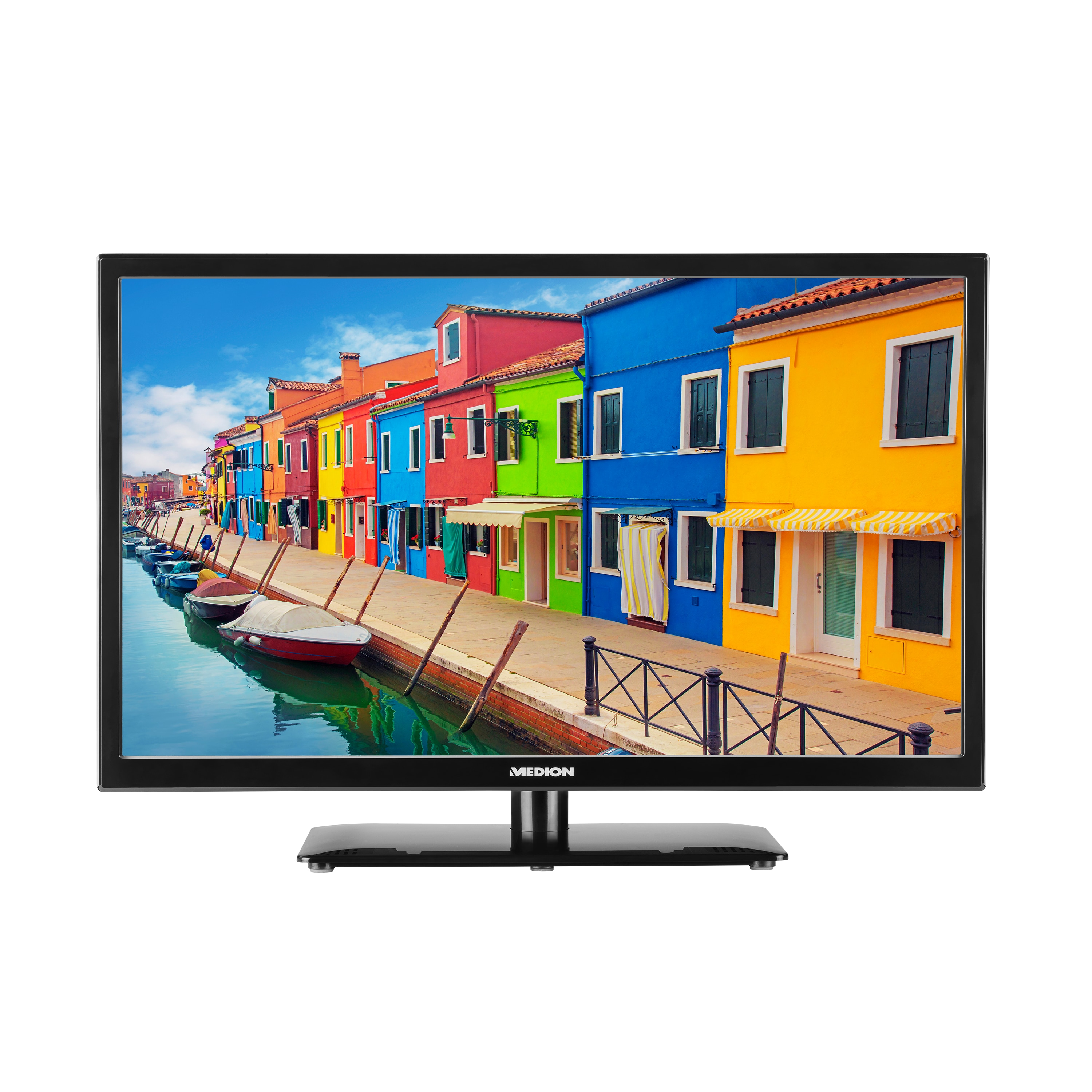 MEDION® LIFE® P12452 Fernseher, 59,9 cm (23,6) LED-Backlight-TV, Full HD, integrierter DVD-Player, HD Triple Tuner, DVB-T2 HD Antenne, Car-Adapter