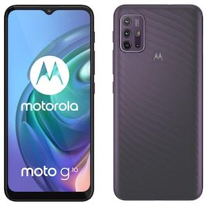 MOTOROLA moto g10 Smartphone, 16,51 cm (6,5) HD+ Display, Android™ 11, 64 GB Speicher, 4 GB Arbeitsspeicher, Octa-Core-Prozessor, Bluetooth® 5.1, Farbe: Aurora Grey