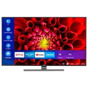 MEDION® LIFE® S14310 Smart-TV, 108 cm (43'') Ultra HD Display, HDR, Dolby Vision™, WCG, Micro Dimming, MEMC, PVR ready, Netflix, Amazon Prime Video, Bluetooth®, DTS HD, HD Triple Tuner, CI+