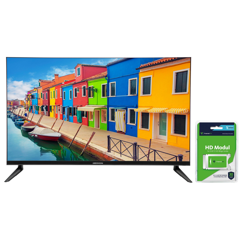 """MEDION® LIFE® E13211, LED-Backlight TV, 80 cm (31,5""""), inkl. DVB-T 2 HD Modul (1 Monat freenet TV gratis) - ARTIKELSET"""