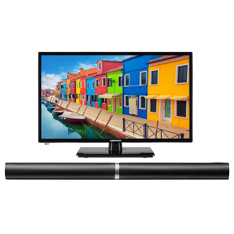 MEDION® Offre combinée ! LIFE E12443 LCD-TV 23 Pouces avec Lecteur DVD & P61202 Barre de son 2.0 avec Bluetooth