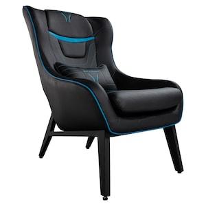 MEDION® ERAZER® X89220 Gaming Sessel, stilvoll und komfortabel, sportliche Optik und hochwertige Materialien, seitliche Rücken- und Beinpolster, Lendenkissen, Controllerfach