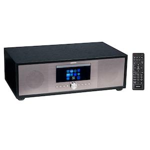MEDION® LIFE® P66024 Système audio tout-en-un | écran LCD 7,1 cm (2,8'') | radio Internet/DAB+/PLL FM | lecteur CD/MP3 | Bluetooth® 5.0 | haut-parleur 2.1, 2 x 20 W + 40 W RMS