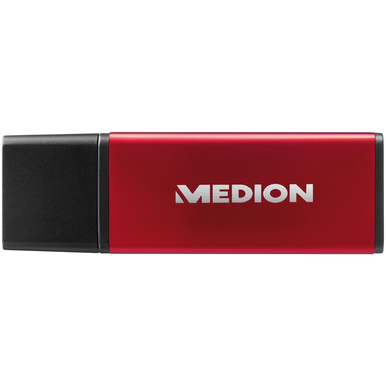 MEDION® E88064 USB 3.0 Stick, 64 GB, robustes Aluminiumgehäuse, Plug & Play