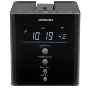 MEDION® LIFE® E66395 projectieklokradio | projectie van de tijd op muren of plafonds | PLL-FM-radio | automatische tijdinstelling (RDS)